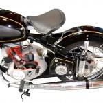 Adler MB 250 im Schnitt mit Blick auf das Hinterrad und den Motor