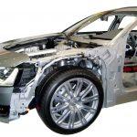 Audi A8 von 2010 Blick von der Seite