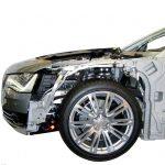 Schnittmodell des Audi A8 von 2010 mit Aluminiumkarosserie