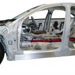 Blick in die Fahrgastzelle des Audi A8 Schnittmodelles von 2010