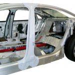 seitlicher Blick in das Schnittmodell eines Audi A8 von 2010