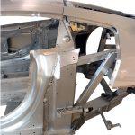 seitlicher Blick auf die Rohkarosserie des Audi R8 von 2008