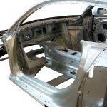 Blick in die Rohkarosserie des Audi R8 von 2008