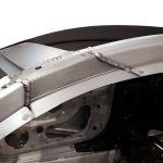 Blick auf die Rohkarosserie des Audi R8 von 2016