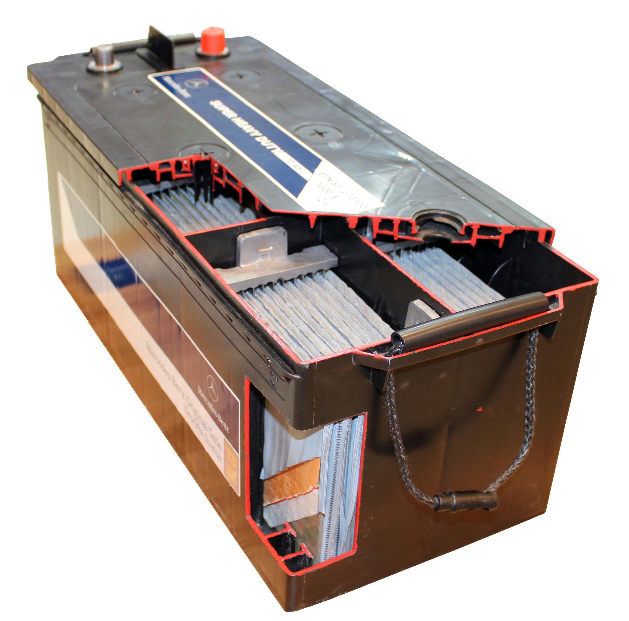 Starterbatterie Schnittmodell