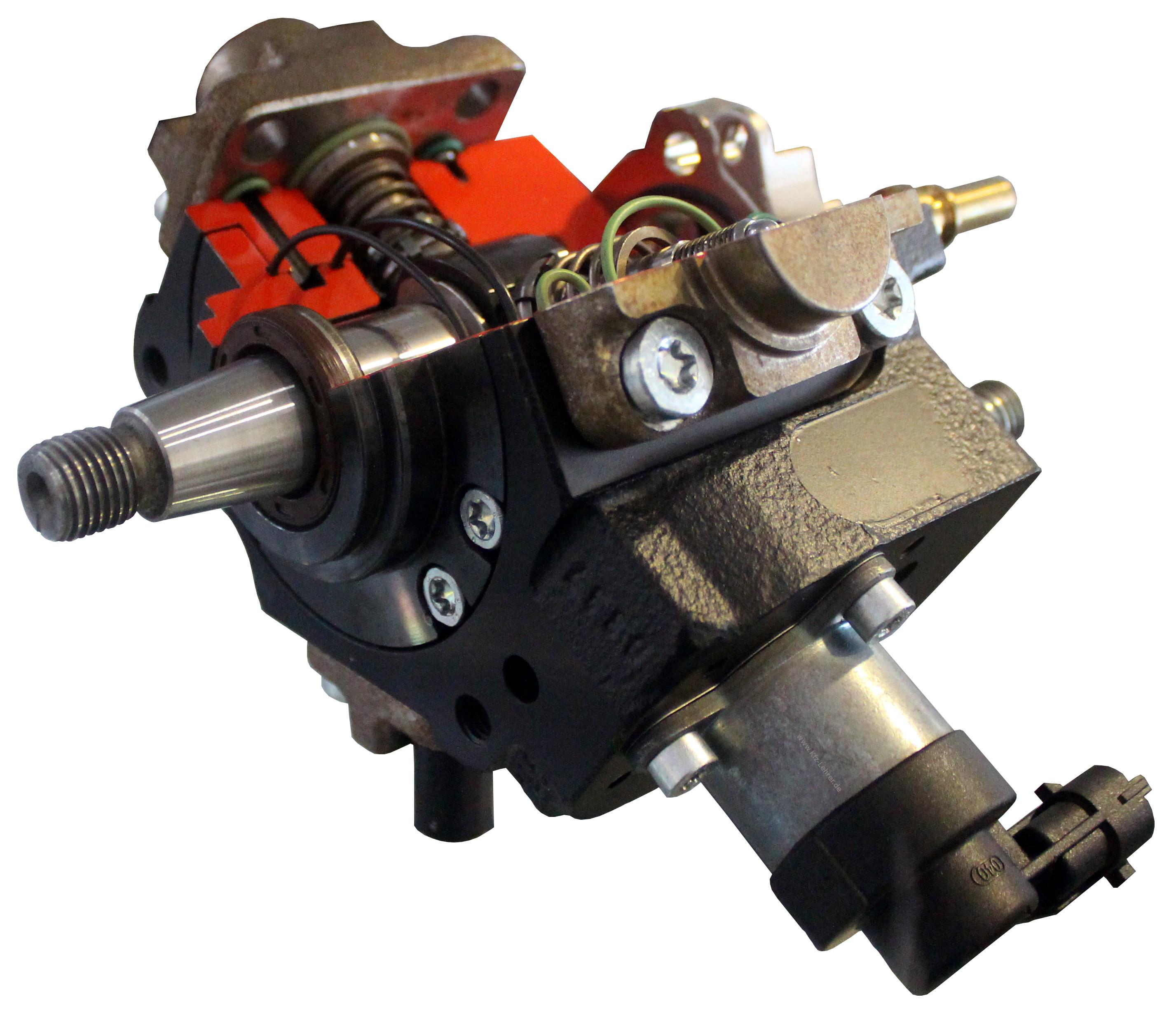 zu sehen ist eine Bosch Hochdruckpumpe als Schnittmodell