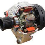 Blick auf einen Pkw-Generator als Schnittmodell