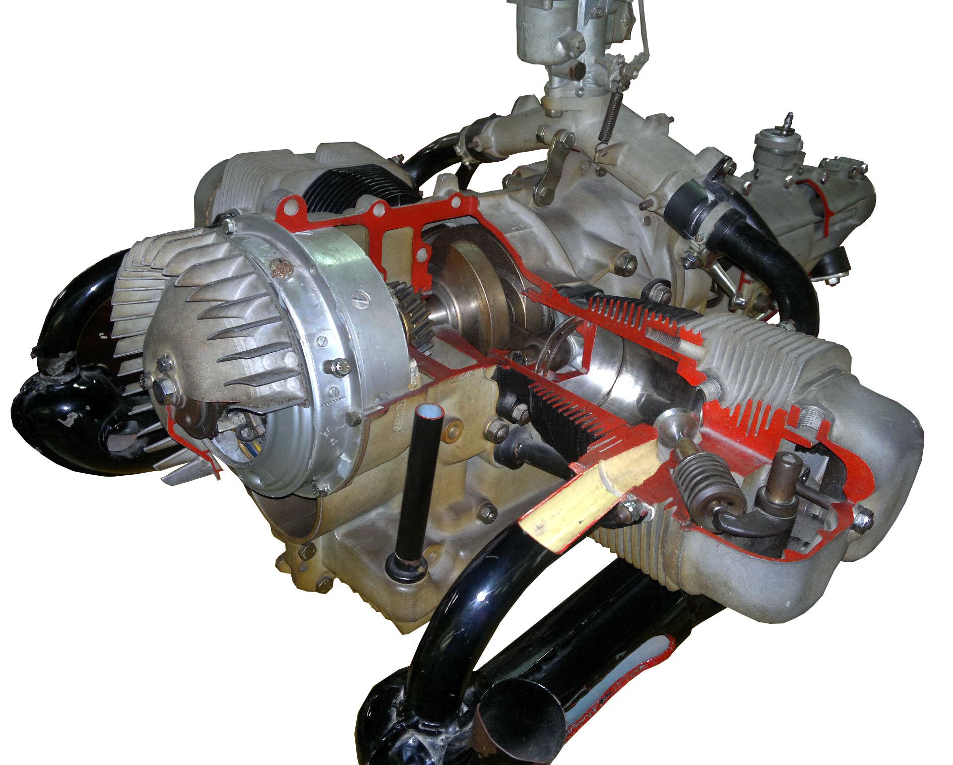 Blick auf das Schnittmodell des Heinkel 458A-O von schräg vorne