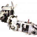 Schnittmodell des IFA F9 Motors mit aufgeschnittenem Getriebe