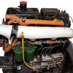 Blick auf das Schnittmodell des 4-Zylinder-Dieselmotors für den Ifa W50