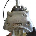 Blick auf das Schnittmodell eines Ilo Einzylindermotors Starterseite