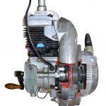 Blick auf das Schnittmodell eines Ilo Einzylindermotors