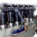 Blick auf das Schnittmodell eines junkers L5 Flugzeugmotors