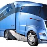 Laster der Zukunft in aerodynamisch optimierter Form