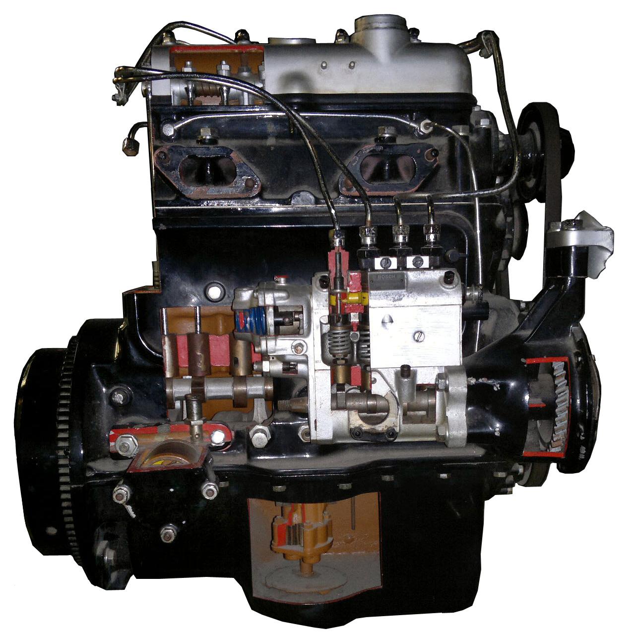 Blick auf den aufgeschnittenen MB 170D