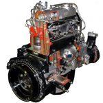 Blick auf den aufgeschnittenen Dieselmotor 170D von Mercedes Benz von 1949