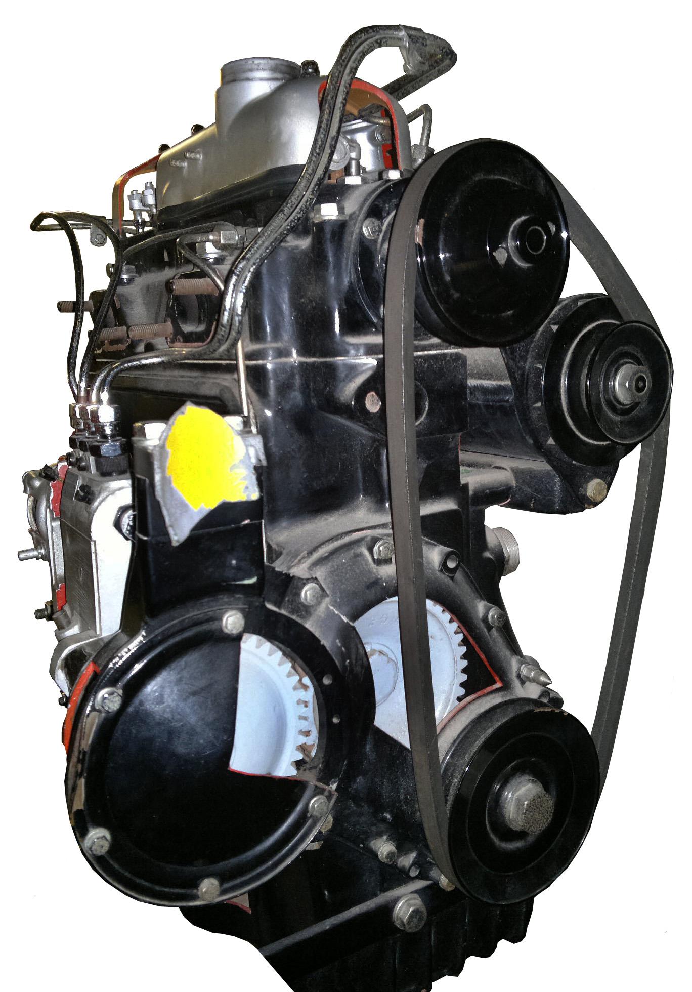 Blick auf das Schnittmodell eines MB 170D