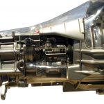 Blick auf das Schnittmodell des Getriebes eines MB 2,5D von 1990