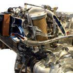 Foto vom MB 2,5 D von 1990, ein Schnittmodell des 5-Zylinderdieselmotors