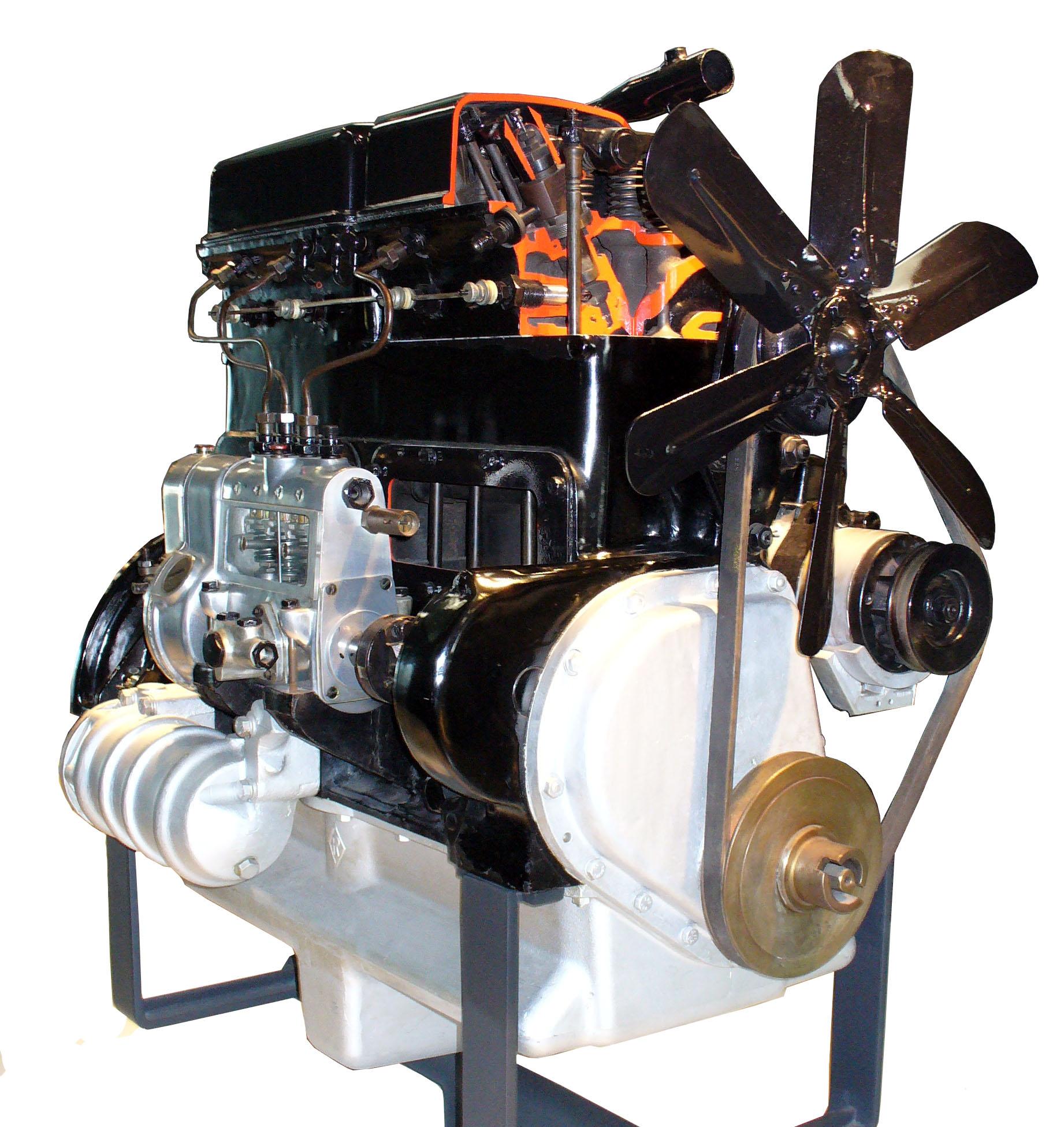 Blick auf das Schnittmodell MB OM59 von 1932