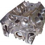 abgebildet ist ein V8 Motorblockgehäuse aus Alumiuium gegossen