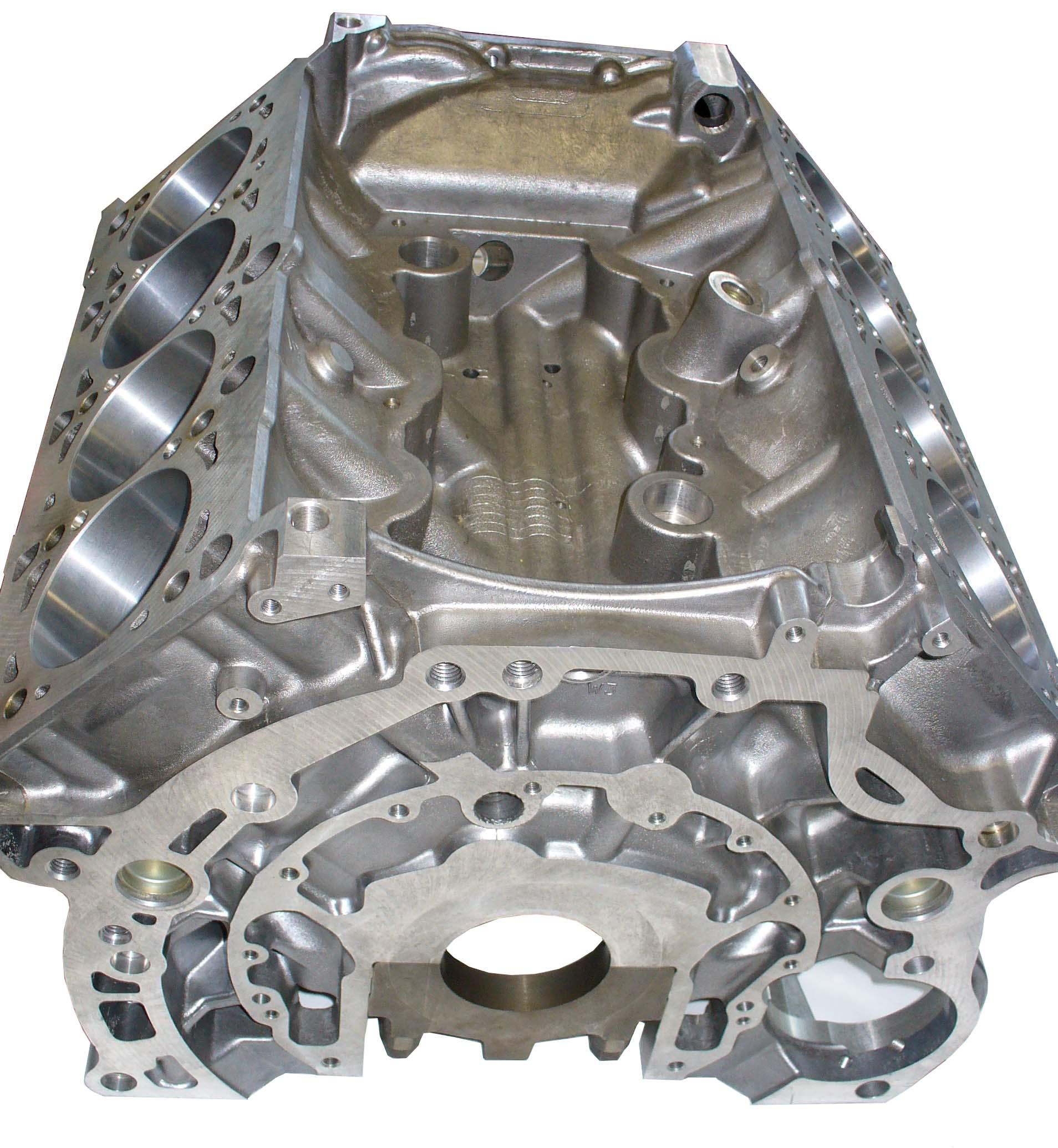 Foto von einem Aluminiummotorblockgehäuse eines V8-Motors
