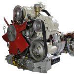 Blick auf die Front des Schnittmodelles eines NSU RO 80 Wankelmotor