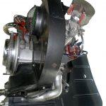 Blick auf das Schnittmodell eines Porsche Boxermotors von 1954