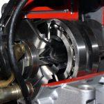 Blick in das Schnittmodell einer Bosch Verteilereinspritzpumpe VP44