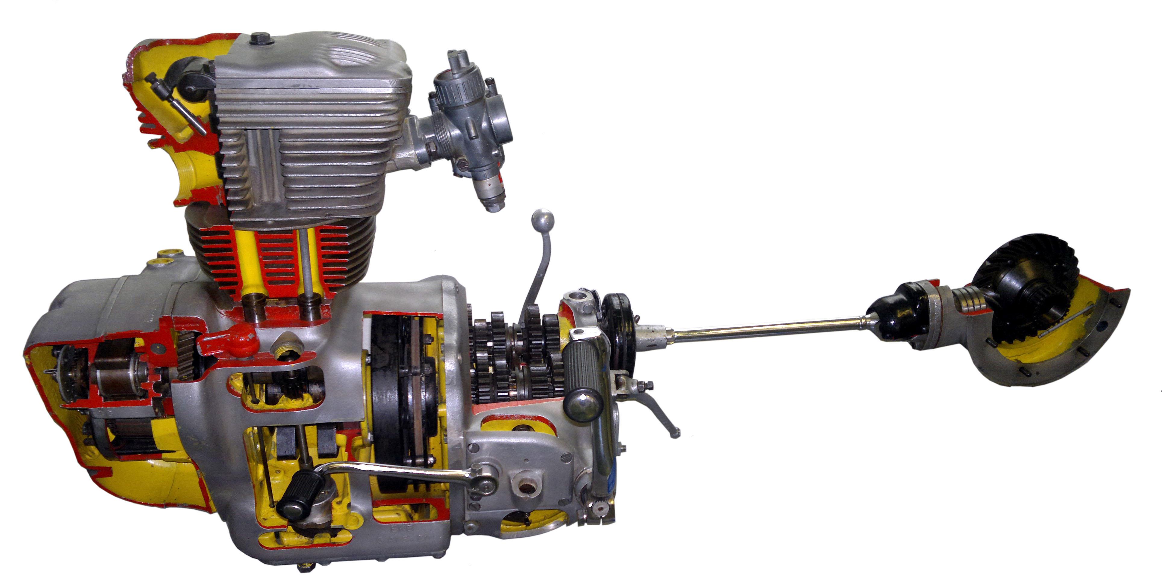 Antriebsstrang einer AWO 425 S