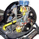 Blick in das Schnittmodell des Boxermotors eines VW Käfers aus dem Jahr 1956