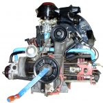 Blick auf ein Schnittmodell eines VW Käfer Motors