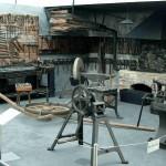 Blick in eine nachgebaute Stellmacherwerkstatt